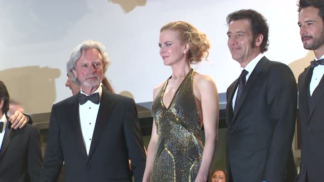 philip kaufman nicole kidman clive owen and rodrigo santoro at hemingway and gellhorn premiere 65th cannes film festival at lumiere on may 25 2012 in... - nicole kidman stock videos & royalty-free footage