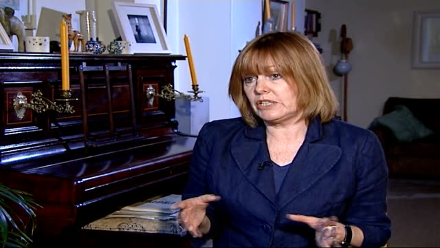 widow's reaction to killer remaining in uk int lawrence chatting to davies frances lawrence interview sot on feeling that justice is working in... - widow stock videos & royalty-free footage