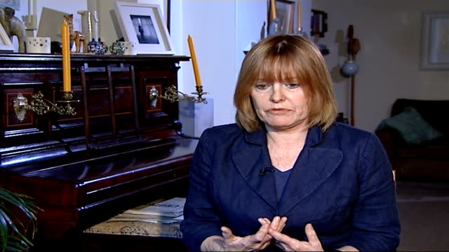 widow's reaction to killer remaining in uk frances lawrence interview sot on human rights act - widow stock videos & royalty-free footage