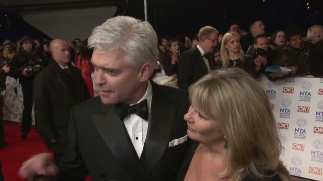 stockvideo's en b-roll-footage met interview philip schofield on the awards and how he copes with an early morning show national tv awards 2013 at 02 arena on january 23 2013 in london... - fern britton