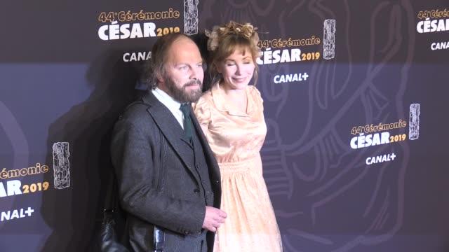 vidéos et rushes de philippe katherine and julie depardieu on the red carpet of the cesar film awards 2019 at salle pleyel in paris paris, france 22nd february 2019 - cesar