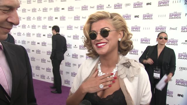philippe leopoldmetzger melody gardot on the event at piaget at the 2012 film independent spirit awards on 2/25/12 in los angeles ca - independent feature project stock videos and b-roll footage