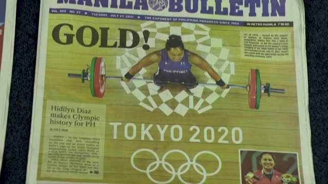 PHL: Delight in Manila after weightlifter wins Philippines' first Olympic gold