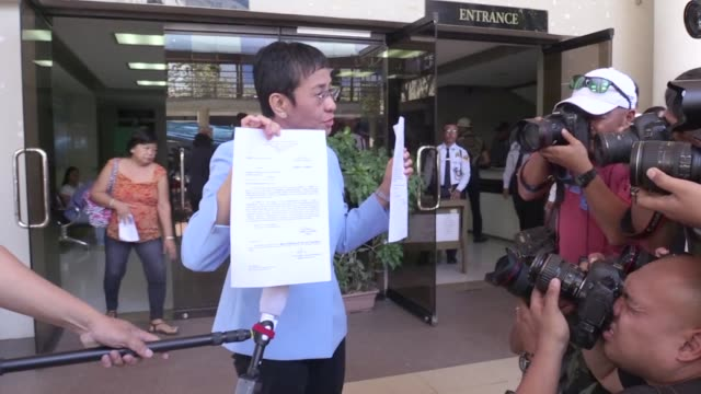 philippine journalist maria ressa pays bail in court on a tax fraud charge which she says was manufactured to intimidate her news website critical of... - bail cricket stump stock videos & royalty-free footage