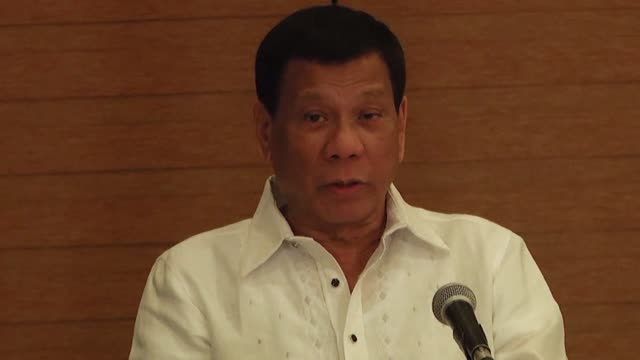 philippine president rodrigo duterte declares himself beyond the jurisdiction of an international criminal court probe into thousands of deaths in... - philippines stock videos & royalty-free footage