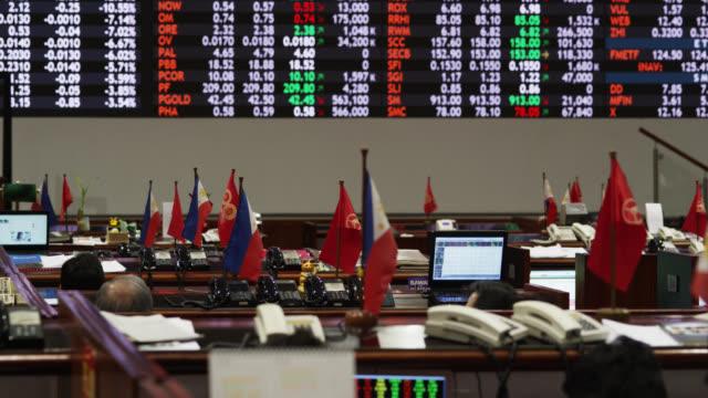 philippine stock exchange - market trader stock videos & royalty-free footage