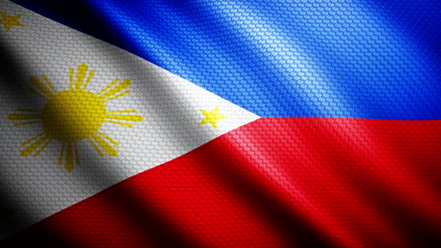 philippines flag 4k - philippines flag stock videos & royalty-free footage