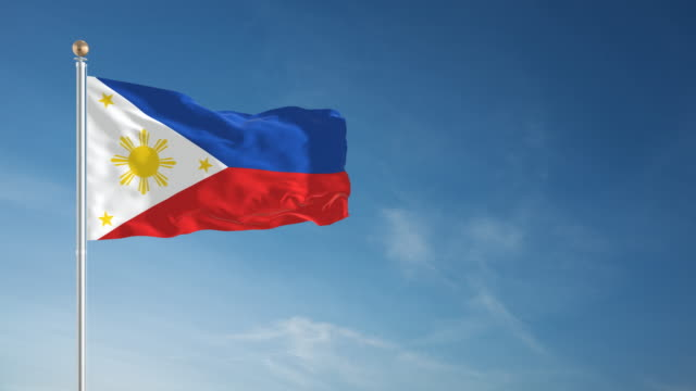 4k philippines flag - loopable - philippines flag stock videos & royalty-free footage