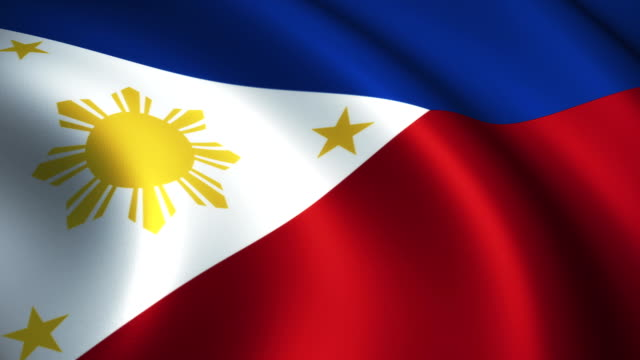 philippines flag loopable - philippines flag stock videos & royalty-free footage