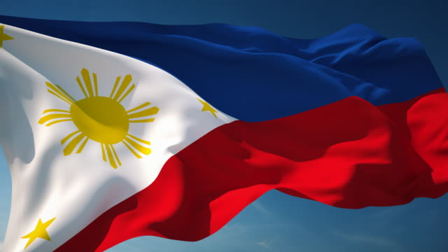 4k philippines flag - loopable - philippines stock videos & royalty-free footage