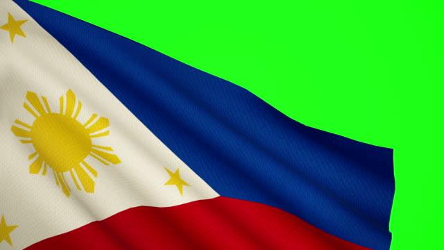 philippines flag luma matte - philippines flag stock videos & royalty-free footage