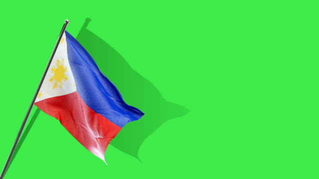 philippines flag rising - philippines flag stock videos & royalty-free footage