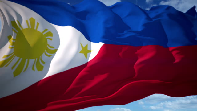 philippines flag - philippines flag stock videos & royalty-free footage