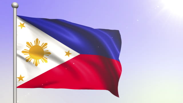 philippines flag (loopable) - philippines flag stock videos & royalty-free footage