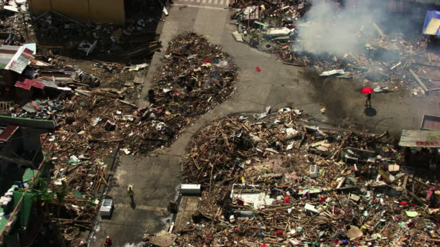 philippines: wreckages of tacloban city - extreme weather stock videos & royalty-free footage