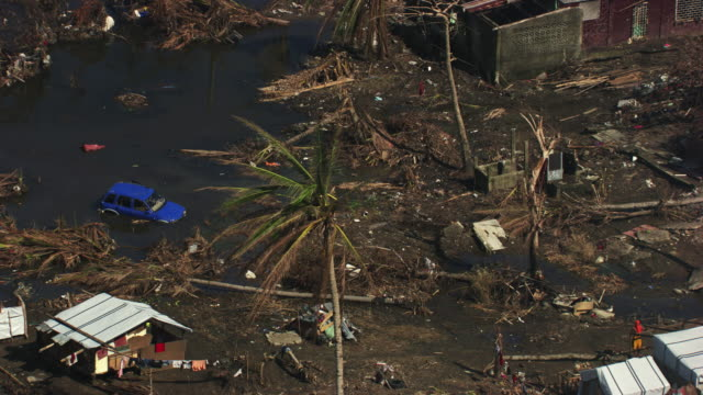 philippines: wreckages of tanauan city - 2013 stock videos & royalty-free footage