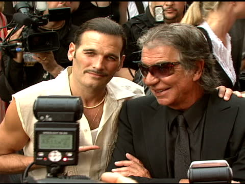 phillip bloch and roberto cavalli at the cavalli ny flagship store launch at cavalli flagship store in new york new york on september 7 2007 - roberto cavalli stock videos and b-roll footage