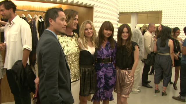 phillip lim guest kristen bell guest rachel bilson at the vogue rachel bilson host anniversary party for 31 phillip lim store at los angeles ca - kristen bell stock videos and b-roll footage