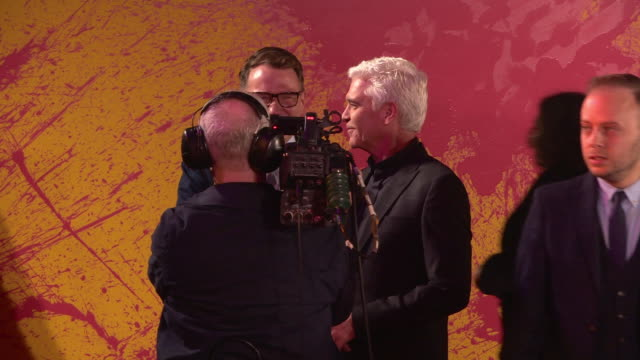 phillip schofield at itv palooza at the royal festival hall on october 16, 2018 in london, england. - フィリップ スコフィールド点の映像素材/bロール