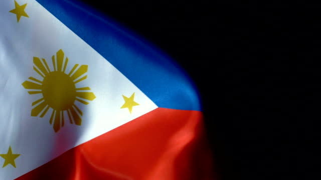 phillippines flag flapping - philippines flag stock videos & royalty-free footage