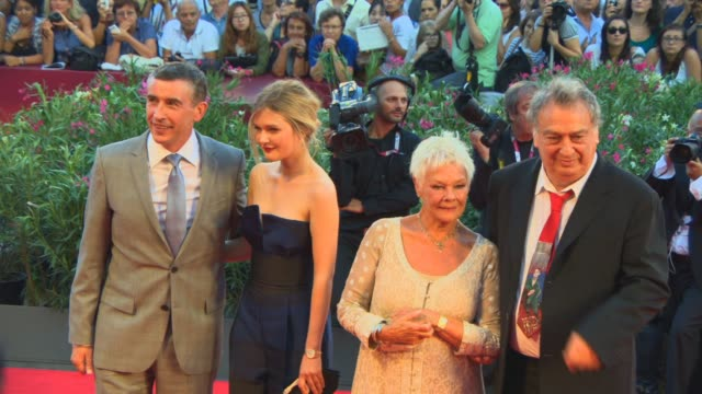 philomena' red carpet, venice, italy 8/31/2013 - judi dench stock videos & royalty-free footage