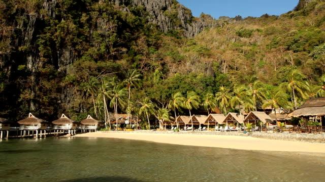 philppines, palawan island, el nido, bacuit arcipelago - turistort bildbanksvideor och videomaterial från bakom kulisserna