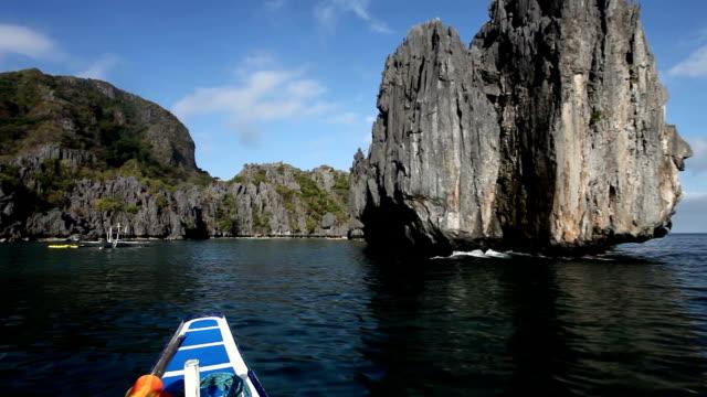 philppines, palawan island, el nido, bacuit arcipelago - herumfahren stock-videos und b-roll-filmmaterial