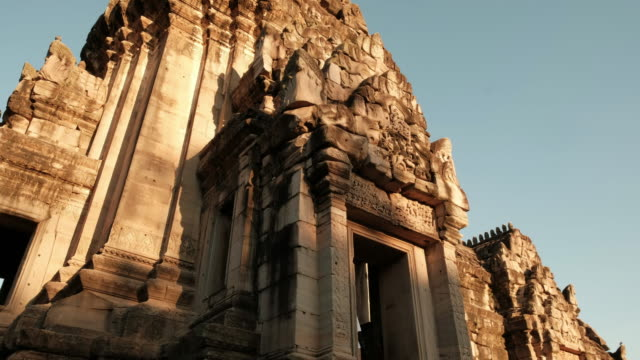 phimai historical park - temple building stock videos & royalty-free footage