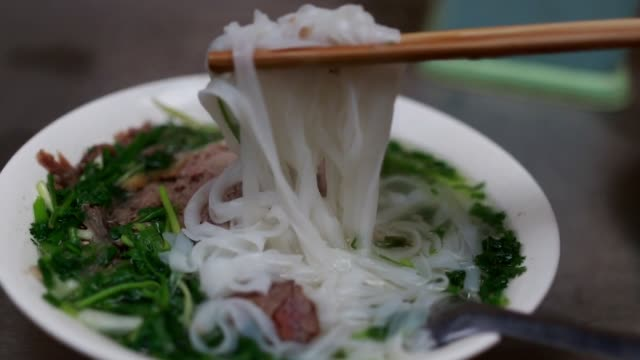 pho soup at the local - vietnam stock videos & royalty-free footage
