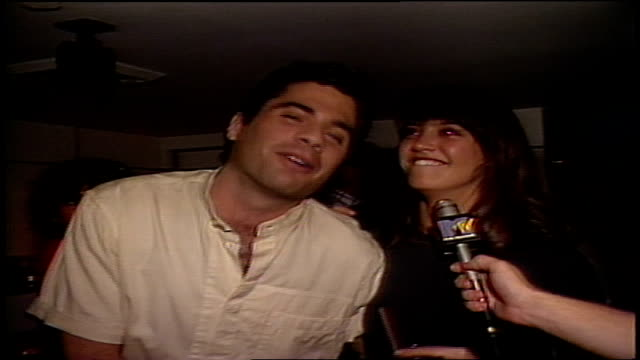 phoebe cates speaking about seeing the cars live while at a party in new york city then pulled away buy owner robert shalom - mtv点の映像素材/bロール