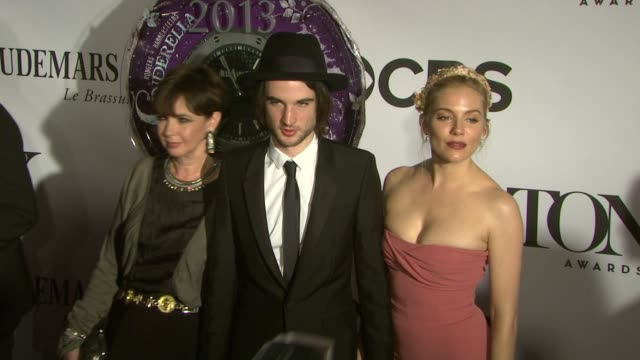 Phoebe Nicholls Tom Sturridge and Sienna Miller at The 67th Annual Tony Awards Arrivals at Radio City Music Hall on June 09 2013 in New York New York