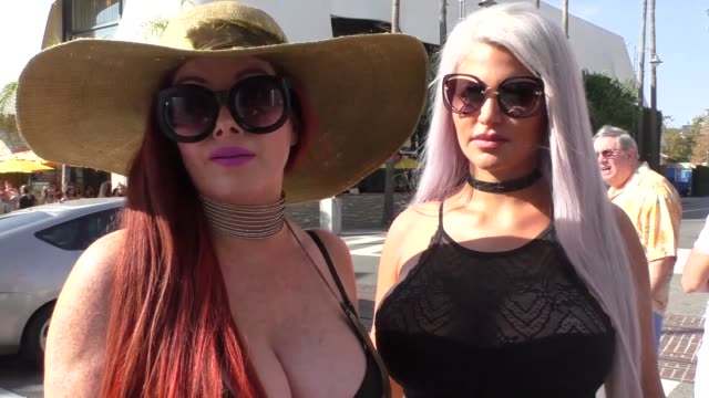 phoebe price and sophia wollersheim on hugh hefner while shopping at the grove in los angeles at celebrity sightings in los angeles on september 30... - hugh hefner stock videos & royalty-free footage
