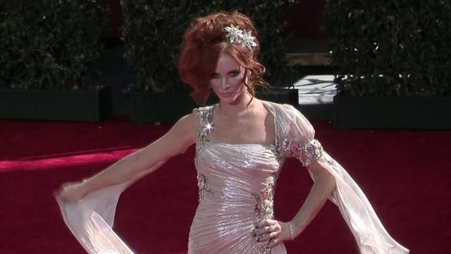 phoebe price at the 61st annual primetime emmy awards - arrivals part 2 at los angeles ca. - annual primetime emmy awards stock videos & royalty-free footage