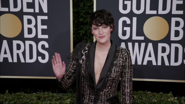 phoebe wallerbridge at the 77th annual golden globe awards at the beverly hilton hotel on january 05 2020 in beverly hills california - the beverly hilton hotel stock-videos und b-roll-filmmaterial