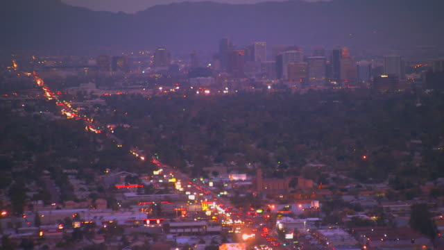 phoenix, arizonacity at dusk - arizona stock videos & royalty-free footage