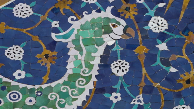 phoenix design on nadir divan-beghi - bukhara stock videos & royalty-free footage