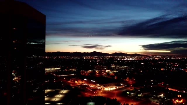 Phoenix sunset dolly shot left to right