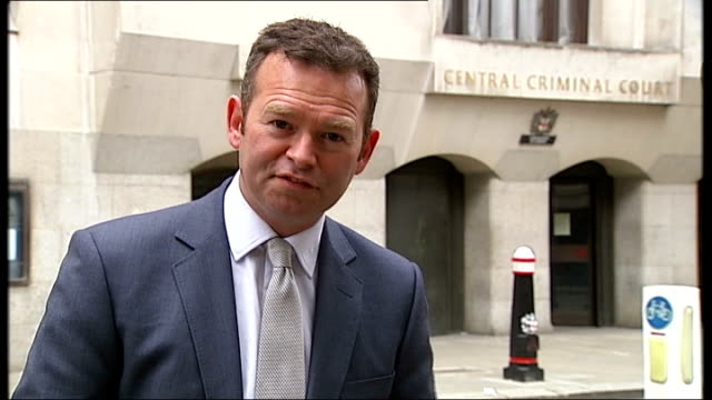 andy coulson and clive goodman to face retrail on charge of conspiring to bribe police officers reporter to camera - andy coulson stock videos & royalty-free footage