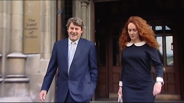 phone hacking rebekah brooks charged with perverting course of justice rebekah brooks the former news international chief executive has been charged... - international court of justice stock videos and b-roll footage