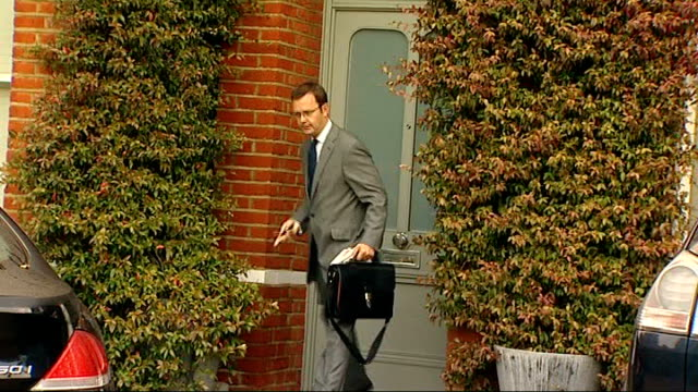 further news of the world journalist arrested london ext andy coulson out of house and into car - andy coulson stock videos & royalty-free footage