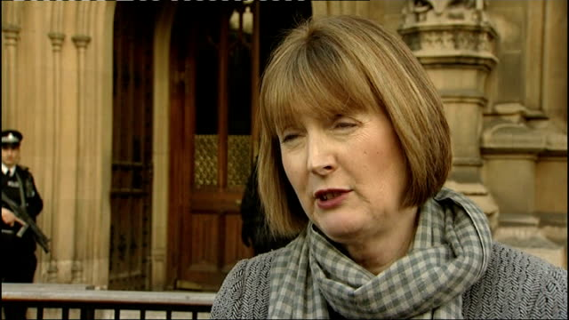 rebekah brooks and husband arrested england london ext harriet harman mp interview sot - レベッカ ブルックス点の映像素材/bロール