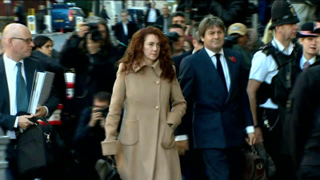 andy coulson found guilty of conspiring to hack phones / r28101310 old bailey rebekah brooks and husband charile brooks arriving at old bailey on... - andy coulson stock videos & royalty-free footage