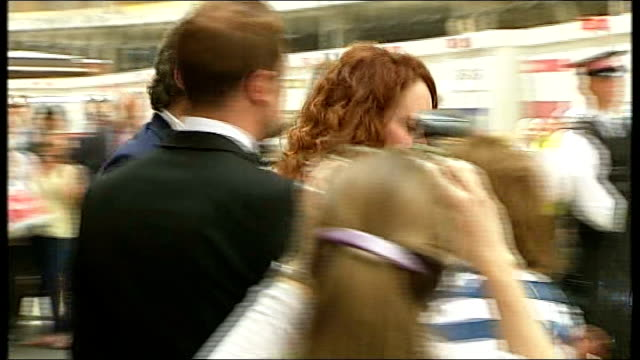 andy coulson found guilty of conspiring to hack phones england london old bailey ext rebekah brooks and husband charlie brooks from court and through... - andy coulson stock videos & royalty-free footage