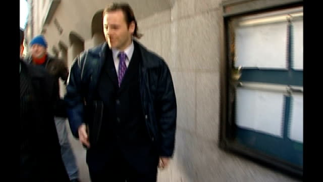 andy coulson gives evidence t29110619 / old bailey ext glenn mulcaire leaving court with lawyer - andy coulson stock videos & royalty-free footage