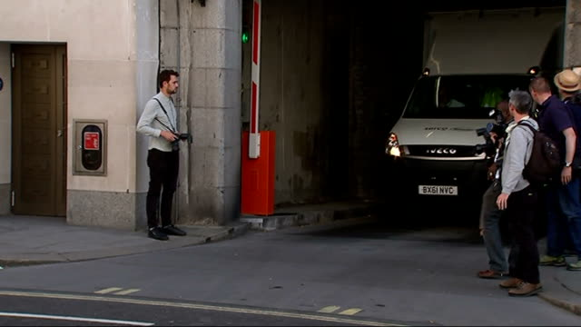 andy coulson 's prison van old bailey to belmarsh prison england london old bailey ext prison van containing andy coulson leaving old bailey - andy coulson stock videos & royalty-free footage