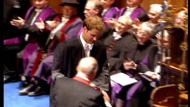 clive goodman admits to hacking phones of the royals lib / t23060519 scotland fife st andrews university int prince william presented with his degree... - 2005 stock videos and b-roll footage