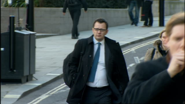 Court arrivals ENGLAND London Old Bailey EXT Andy Coulson arrival at court / Rebekah Brooks and husband Charlie Brooks arrival at court / Mark Hanna...