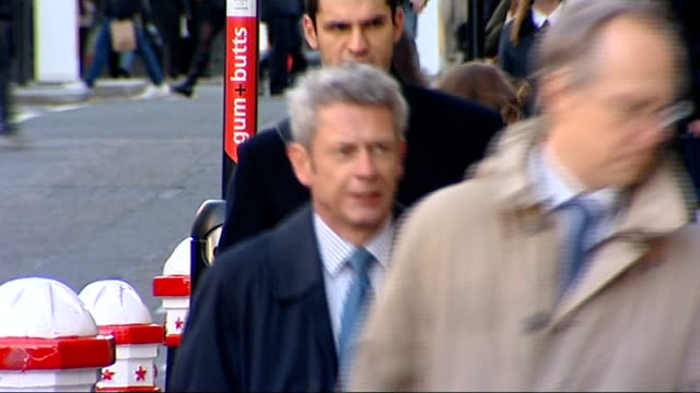 court arrivals england london old bailey ext mark hanna arriving / unidentified man arriving / andrew edis qc arriving / unidentified man arriving /... - griffin stock videos & royalty-free footage