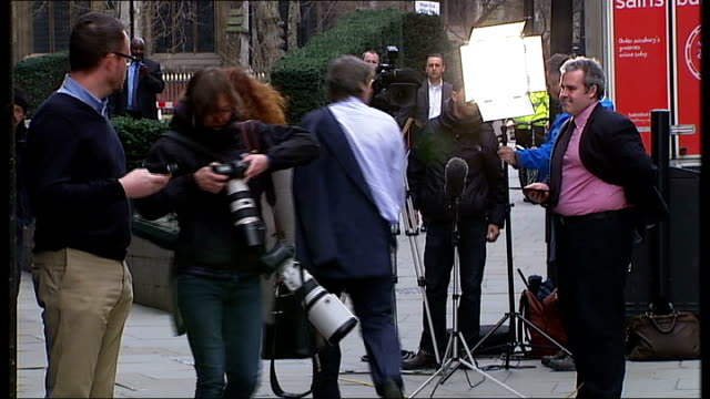 court departures and old bailey england london old bailey ext andy coulson departing court / rebekah brooks and husband charlie brooks leaving court... - statue of justice london stock videos and b-roll footage