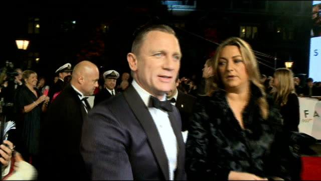 dan evans gives evidence lib / london daniel craig at film premiere for 'skyfall' - skyfall 2012 film stock videos and b-roll footage